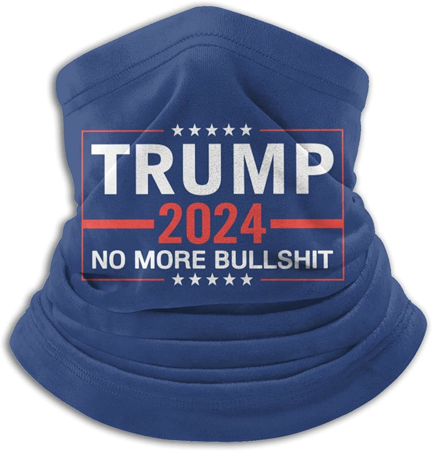 Trump 2024 unisex winter neck gaiter face cover mask, windproof balaclava scarf for fishing, running & hiking