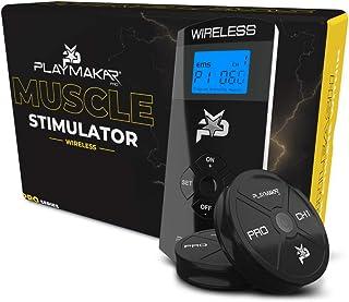 PlayMakar Wireless Muscle Stimulator TENS Unit Dual Channel Rechargeable Combination 2 Pod Value Bundle Kit for Pain Relie...