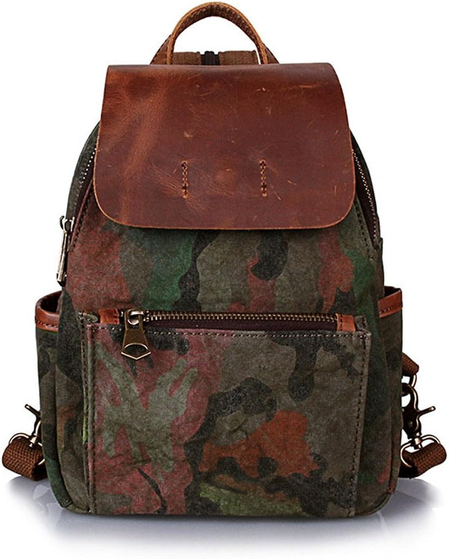 AFCITY-bag Damen Rucksack, Vintage Damen Rucksack Daypack wasserdicht Camo Reiverschluss Canvas Student Outdoor Shopping Für Jugendlich Mdchen (Farbe   Armeegrün)