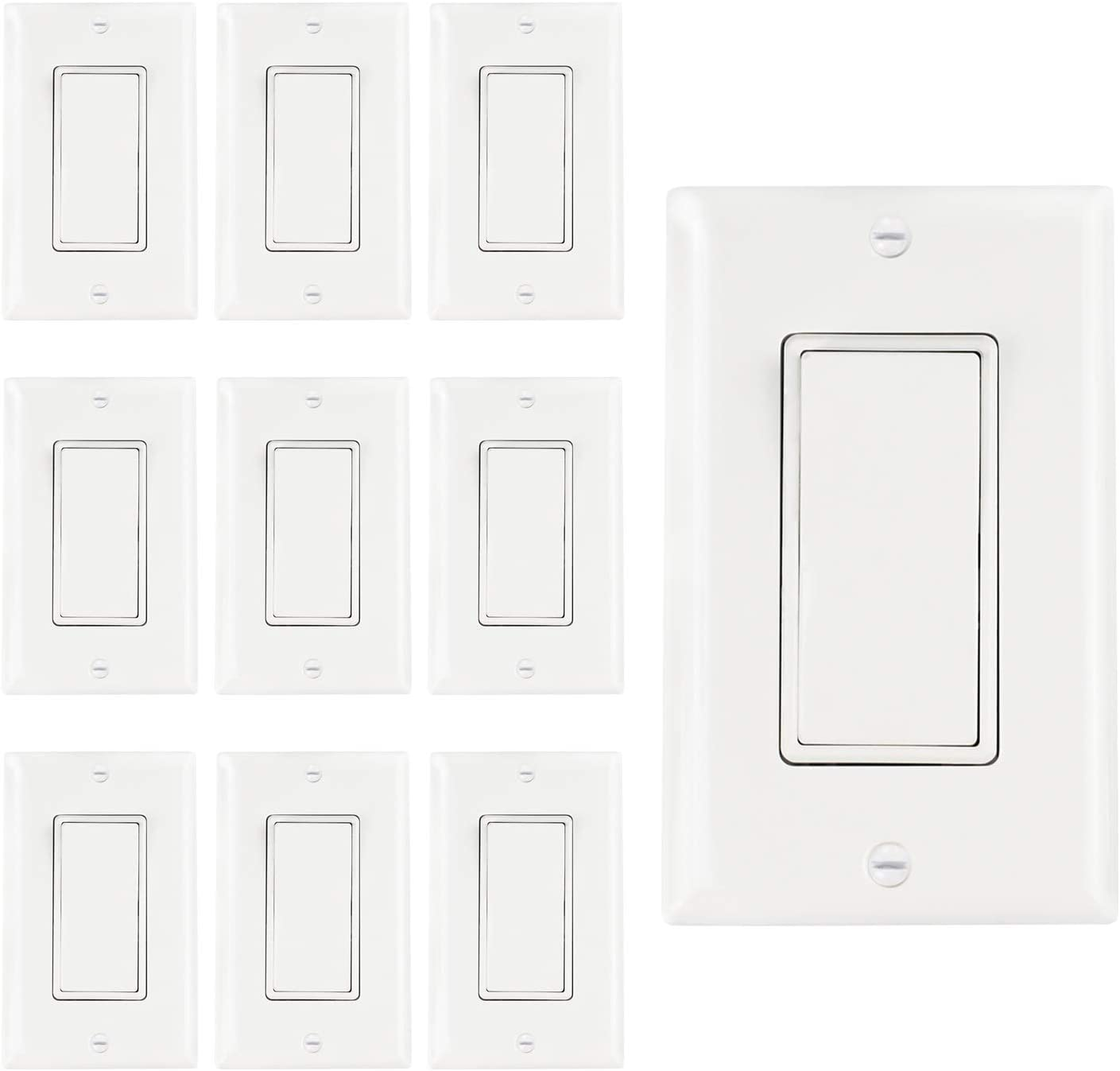 AbboTech Light Switch Mail order cheap Dealing full price reduction With Wall Decorative Plates Included OF ON