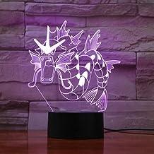 3D Night Light for Children Go Gyarados Figure LED Night Light Colorful Indoor Lamp Luminaire Kids Gift Night Light Bedroo...