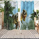 Trelemek Fantasy Living Room/Bedroom Window Curtains Jurassic Monster Fossil Simple Stylish 108x96 INCH