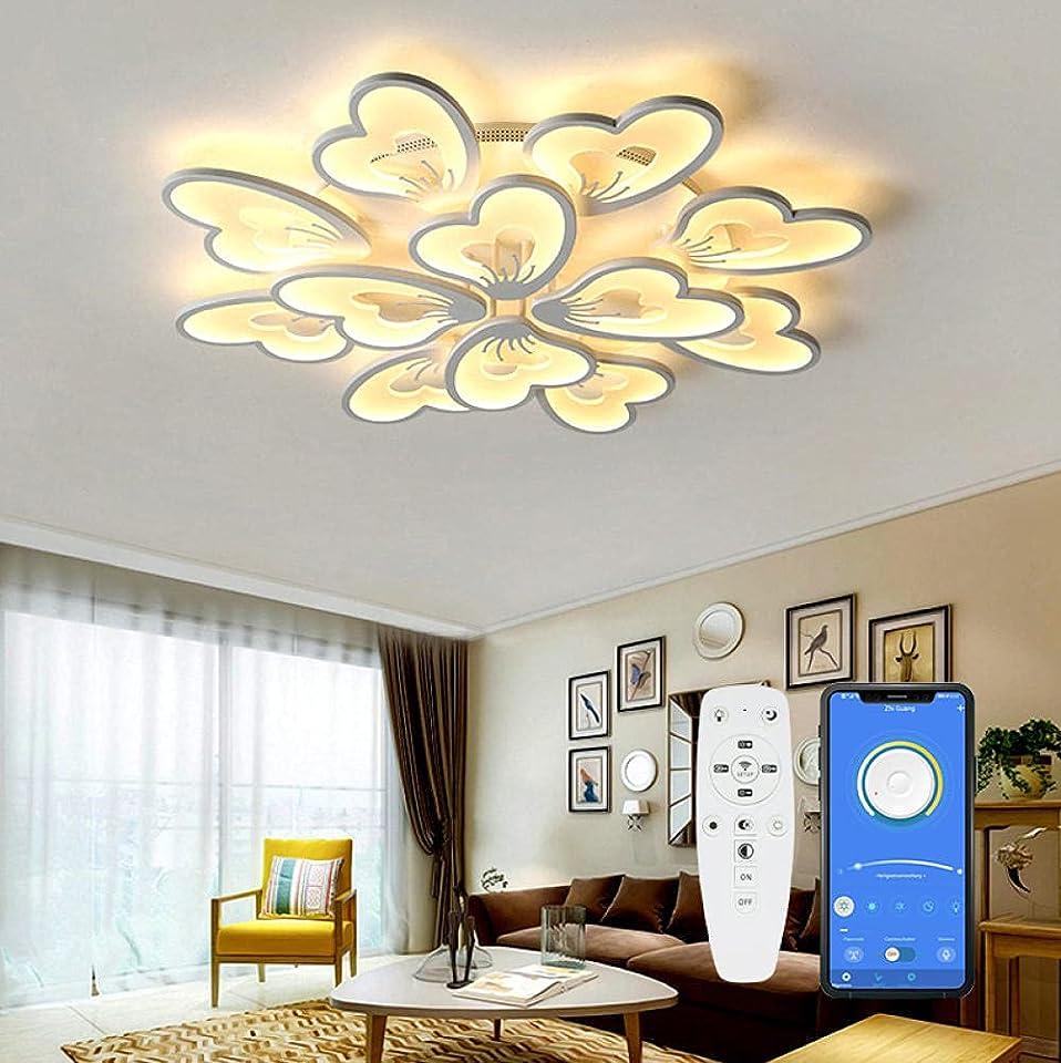 Moderne LED Deckenleuchte mit Fernbedienung APP, Wohnzimmerlampe Dimmbar Lichtfarbe Helligkeit Farbwechsel ,Schlafzimmer Kinderzimmer Deckenlampe Deckenbeleuchtung Lampe Dimming Innenbeleuchtung