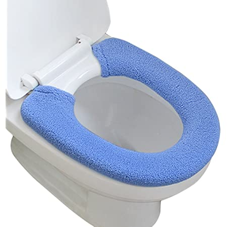 Demarkt WC-Sitzbez/üge Selbstklebend Waermer Waschbar Toiletten Sitz Waermer Toilettensitz Bezug Sitz Cover Matte 2 Paar