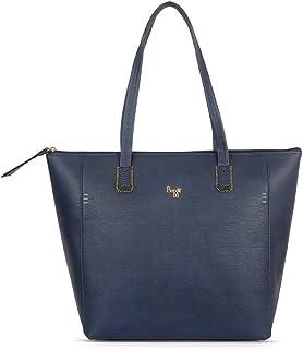 Baggit Women's Synthetic Tote Bag (Blue) (L Baelfire)
