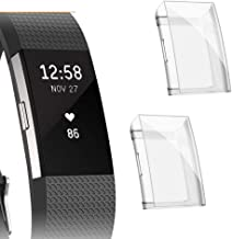 Fibit Charge 2 Screen Protector, Cuteey Slim Soft Full Cover Case for Fitbit Charge 2 Smart Watch Accessories