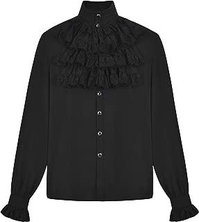 Camisa de Pirata Victoriana para Hombre, Estilo gótico, Steampunk, renacentistav
