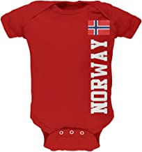 Old Glory World Cup Norway Red Soft Baby One Piece