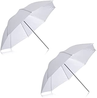 "Neewer 2 Pack 33""/84cm White Translucent Soft Umbrella for Photo and Video Studio Shooting"