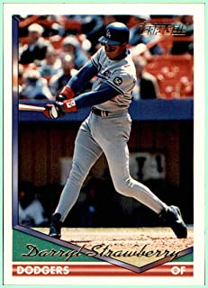 1994 Topps Gold #640 Darryl Strawberry LOS ANGELES DODGERS