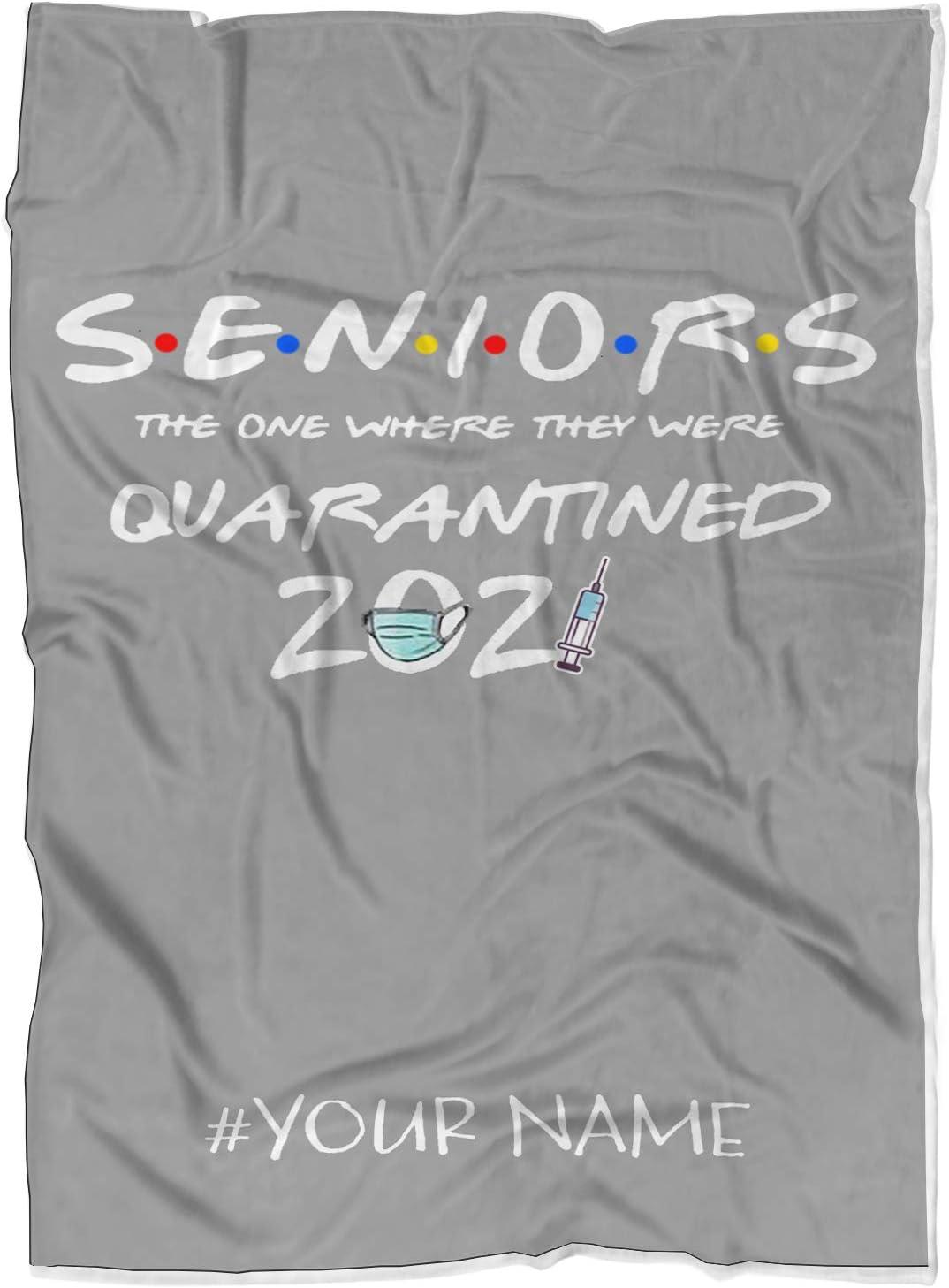 VOTANTA 2020 Personalized NEW ARRIVAL Quarantine Graduation of Blanket Class 2021