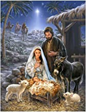 EIKdoulf02 30x40cm DIY 5D Diamond Painting Set Nativity Jesus Cross Stitch Craft Mosaic Full Round Embroidery Pictures Diamond Painting for Home Wall Decoration Gift - W305