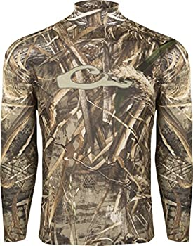 Drake Waterfowl Men s Ultralight Breathable Long Sleeve Performance Crew Tee Realtree Max-5 Small
