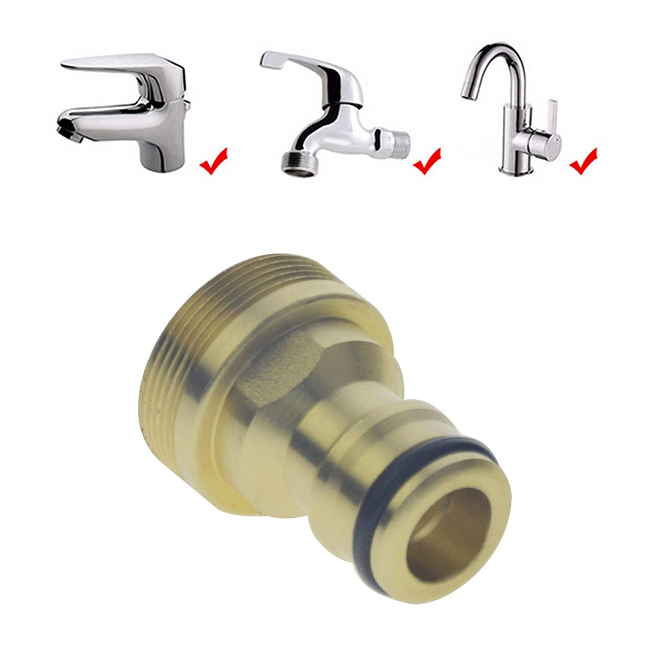 toyofmine Universal Kitchen Tap Connector Mixer Garden Hose Pipe Adapter Joiner Fitting mpfee368710
