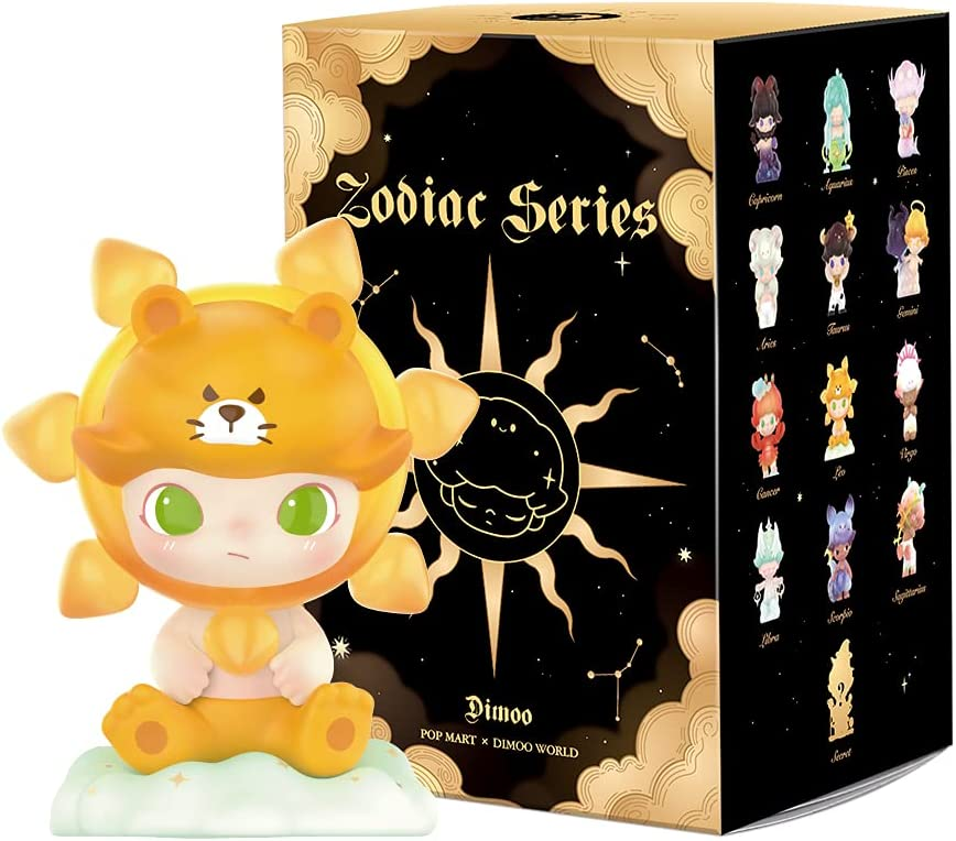 POP MART Dimoo Zodiac Series-1PC Blind Box Toy Box Bulk Popular Collectible Random Art Toy Hot Toys Cute Figure Creative Gift, for Christmas Birthday Party Holiday