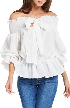 Camisas Mujer, 2018 Nuevo Blusas para Mujer Elegantes Sexy ...
