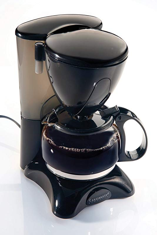 Continental Electric CE23589 4 Cup Coffee Maker Black
