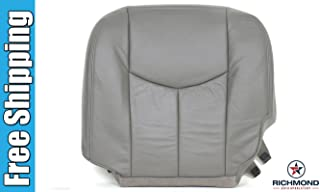 Richmond Auto Upholstery 2003-2007 Chevy Silverado 2500HD LT LS Diesel Vortec Lifted OnStar Bose LT1 LT2 LT3 Driver Side Bottom Replacement Leather Seat Cover, Gray