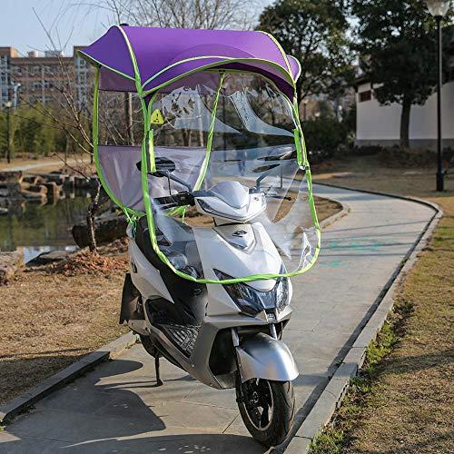 Motorisierte Roller Canopy Elektro-Auto-Sonnenschirm-Elektro-Auto-Markise Vordach Folding Regenschutz Windschutzscheibe Canopy C-Rear View Mirror