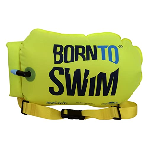 320d051ab BORN TO SWIM SaferSwimmer Dry Bag and Buoy for Open Water Swimming and  Triathlon Robust Visibility