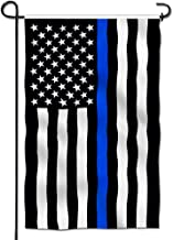 Anley Double Sided Premium Garden Flag, Thin Blue Line USA Decorative Garden Flags - Weather Resistant & Double Stitched - 18 x 12.5 Inch