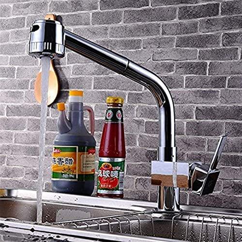 Qianglin Impresionante Tirador de Cocina, Entrada y Salida de Agua fría y Caliente, diámetro de la tubería, 60 cm, diámetro del Asiento de la válvula, 35 mm, Moderno