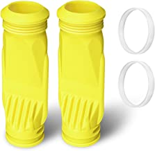 Sumille 2 Pack Silicone Pool Cleaner Diaphragm Replacements for Zodiac Baracuda G3 G4 Diaphragm W69698, Alpha 2, 3 and Zoom Pool Cleaner Part with 2 pcs W81600 Retaining Ring, Yellow