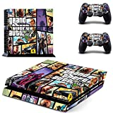 TSWEET GTA 5 Ps4 Skin Sticker Decals Cover for Playstation 4 Ps4 Console & Controller Skins Stickers Vinyl