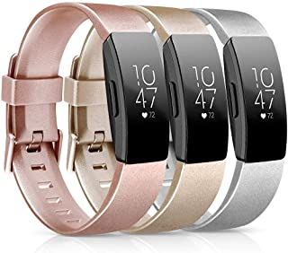 [3 Pack] Soft TPU Bands Compatible with Fitbit Inspire HR/Fitbit Inspire/Fitbit Ace 2 Wristbands Sports Waterproof Wristba...