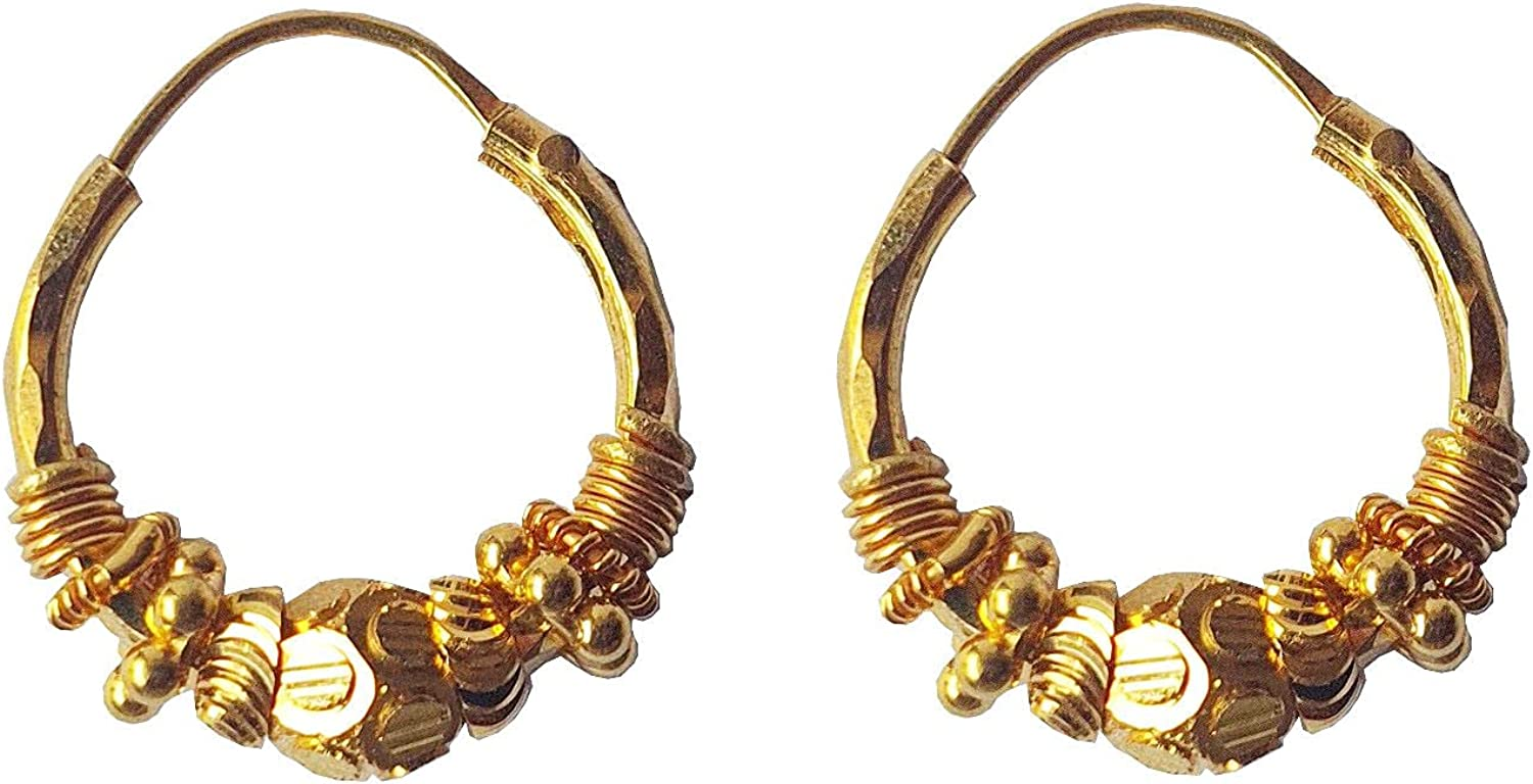 Certified Solid 22K/18K Yellow Fine Gold Beautiful Design Hoop Earrings Available In Both 22 Carat And 18 Carat Fine Gold, For Women,Girls,Kids,Gifts,Bridal,Wedding,Engagement & Celebrations