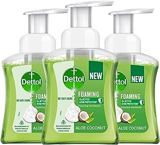 Dettol Foaming Handwash Pump - Aloe Coconut (Pack of 3-250ml each) | Rich Foam | Moisturizing Hand Wash | Soft on Hands