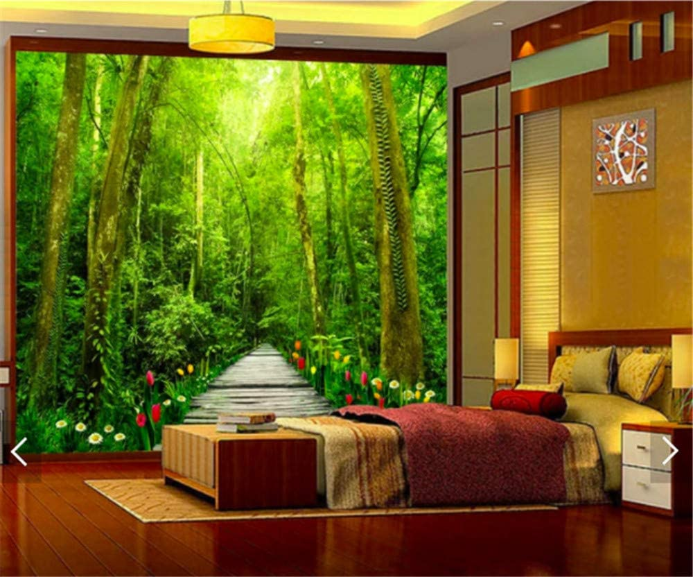 3D Nature forest scenery wall mural wallpaper for the bedroom
