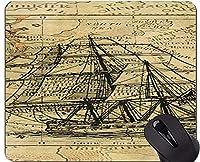 地図の独特な注文のマウスパッドのマウスパッド、ステッチの端が付いているコンパスの旗のマウスパッドのある静物