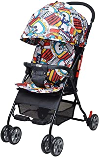 Stroller Foldable Cushion Removable Backrest Adjustable Seat Can Tent Umbrella Baby Car Ultralight Portable Baby Out Car 46 * 61 * 104cm (Color : Multi-Colored)