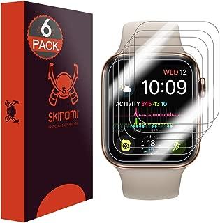 Skinomi Apple Watch Series 4 Screen Protector (40mm)[Slim Design](6-Pack), TechSkin Full Coverage Screen Protector for Apple Watch Series 4 (40mm) Clear HD Anti-Bubble Film