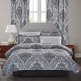 Brown & Grey Bingham Bed-in-Bag Set, Queen, Black