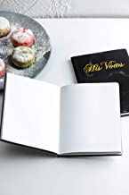 Calculs Marble Wedding Vow Books Set of 2 Black & White Marble Gold Foil Notebook, Printed with His Vows and Her Vows