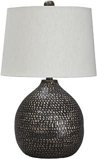 Ashley Furniture Signature Design - Maire Metal Table Lamp - Contemporary - Black/Gold Finish