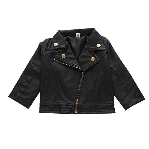 4292edc4fe64 Toddler Faux Leather Jacket  Amazon.com