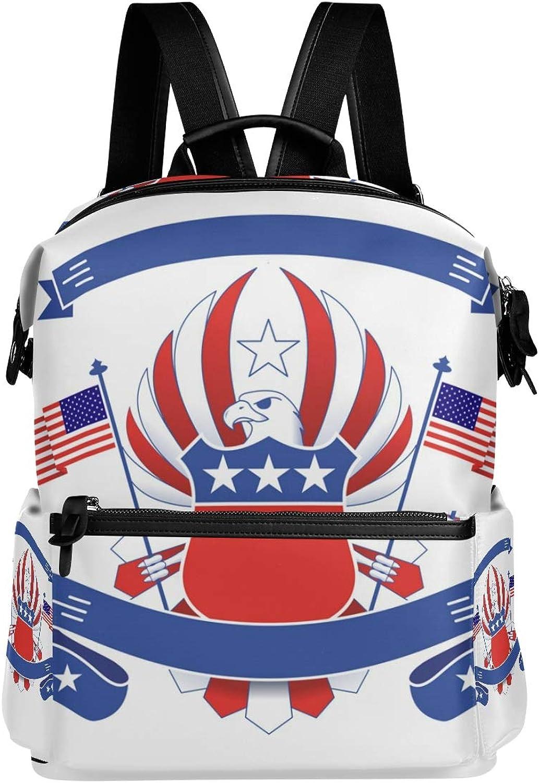 FANTAZIO Rucksäcke Rucksäcke Rucksäcke American Eagle Flag Badge Schulranzen Daypack B07PNY7179  Qualität und Verbraucher an erster Stelle 375312