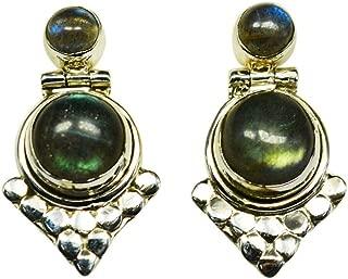 925 Sterling Silver Labradorite Gemstone Ring Size 7 US 2.91 gm Ring Jewelry CCI