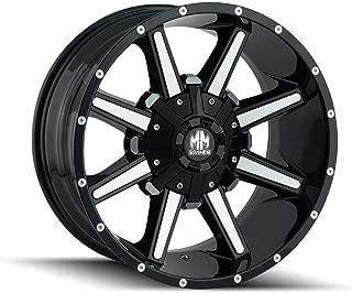 Mayhem Arsenal (8104) Gloss Black/MACHINED FACE: 18x9 Wheel Size; 8-165.1/8-170 Lug Pattern, 130.8mm Bore, 12mm Offset.