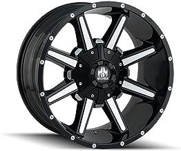 MAYHEM ARSENAL (8104) GLOSS BLACK/MACHINED FACE: 18x9 Wheel Size; 5-150/5-139.7 Lug Pattern, 110mm Bore, 18mm Offset.
