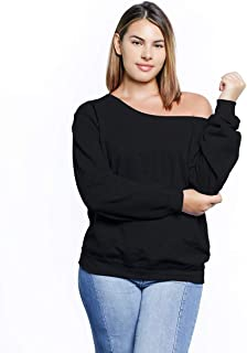 Awkward Styles Plus Size Clothing for Women Loose Sweatshirt Off The Shoulder