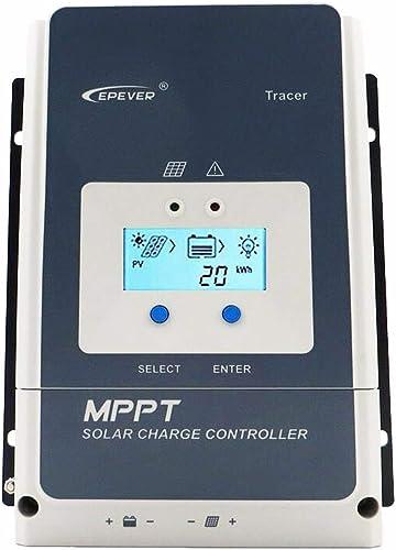 EPEVER® MPPT Tracer8420AN - Regulador de carga solar (80 A, 12/24/36/48 V, PV 200 V, toma de tierra negativa Tracer84...