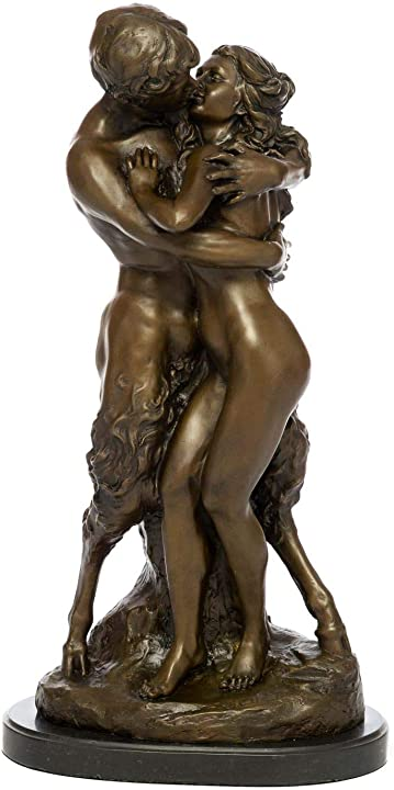 Scultura di bronzo faun amanti ninfa figura scultura in bronzo scultura 57  aubaho B00OQ87Y74