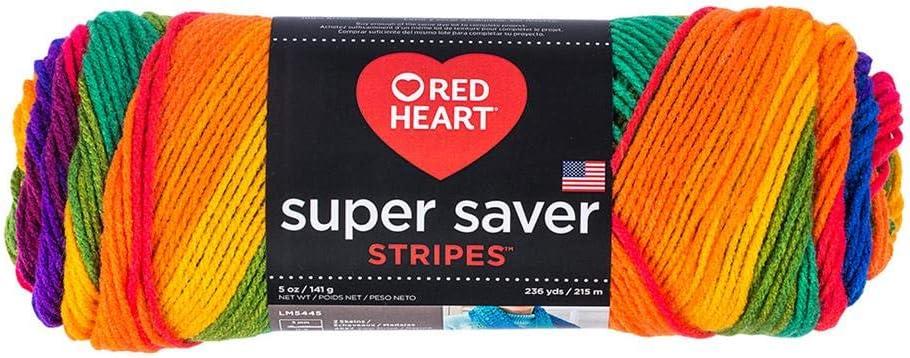 RED HEART Super Saver Yarn-Favorite Stripe