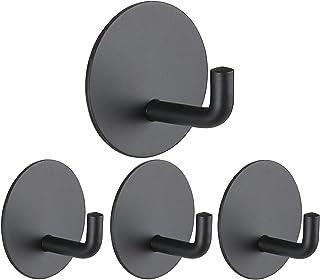 4 Packs Adhesive Wall Hooks, Veriya Waterproof Utility Hook Door Hanger, Heavy Duty Stick on Wall...