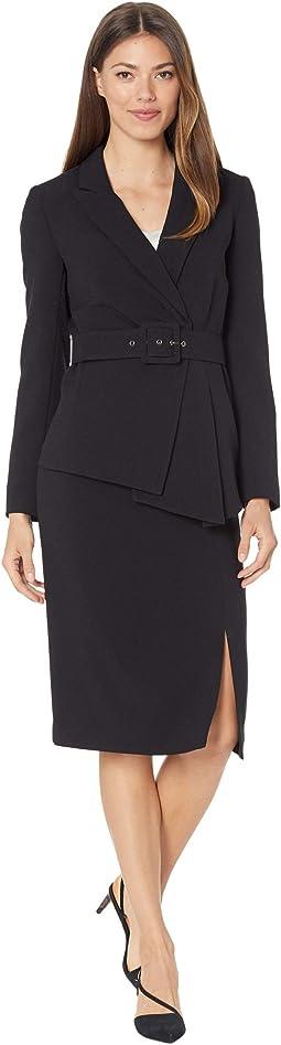 Belted Jacket w/ Pencil Skirt Set