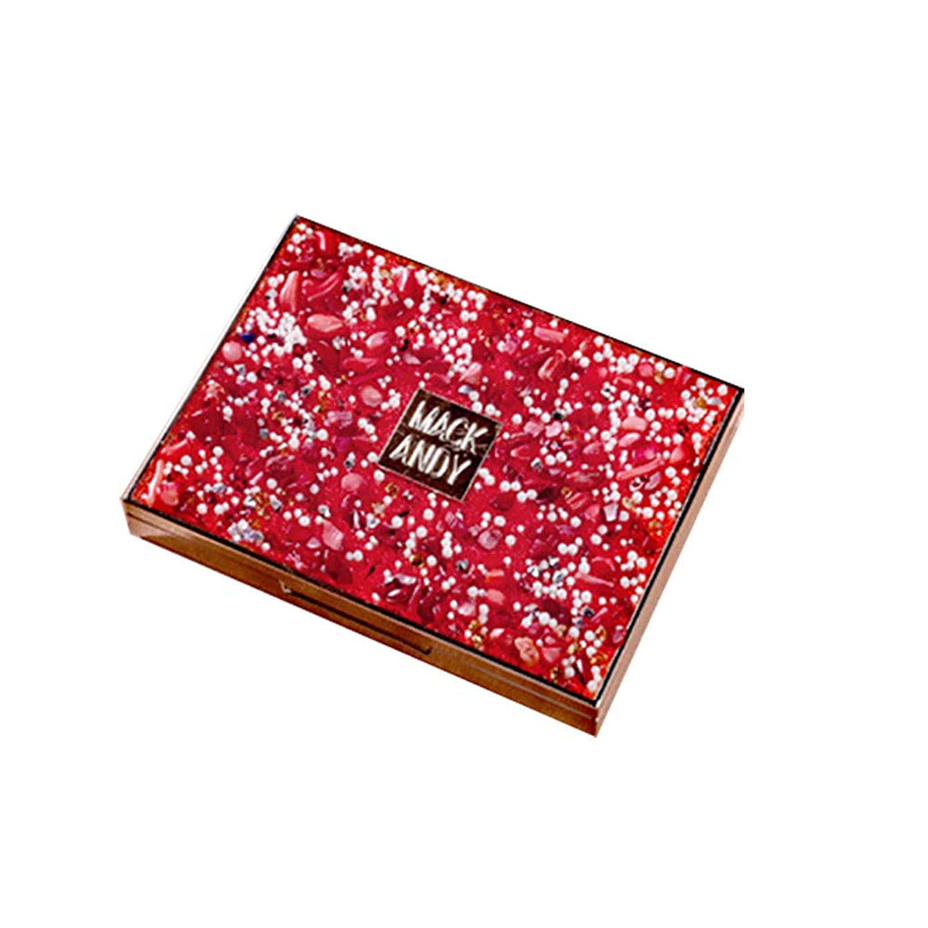 引き出しキモい郵便屋さんアイシャドー美容のための8色のフラッシュサンドアイシャドーディスクフェイシャルメイク